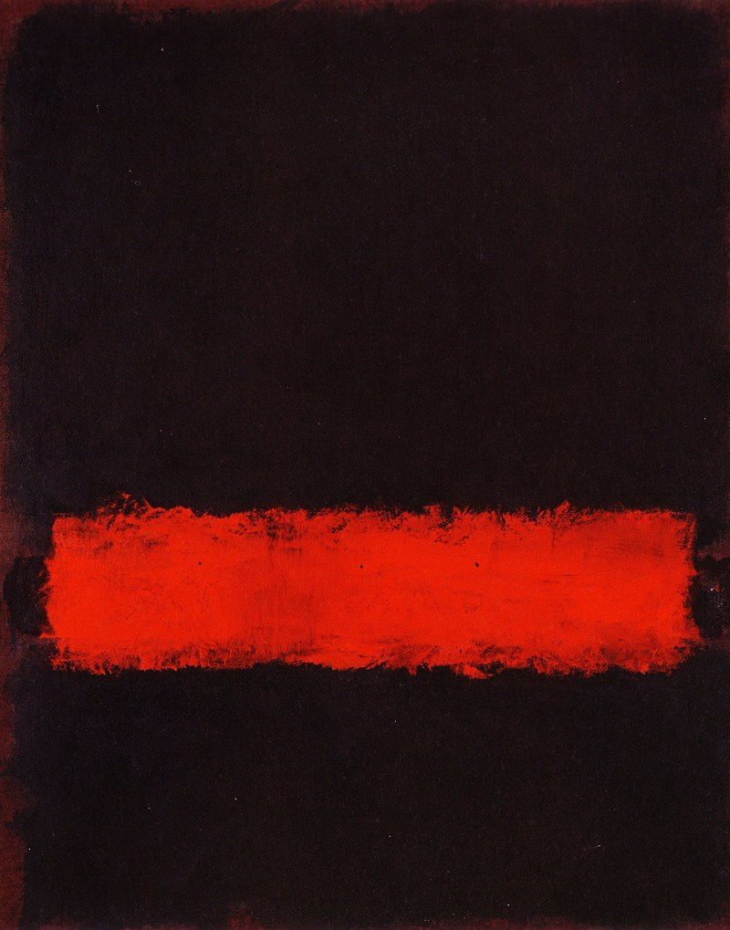 Mark Rothko,Black, Red and Black (1968)