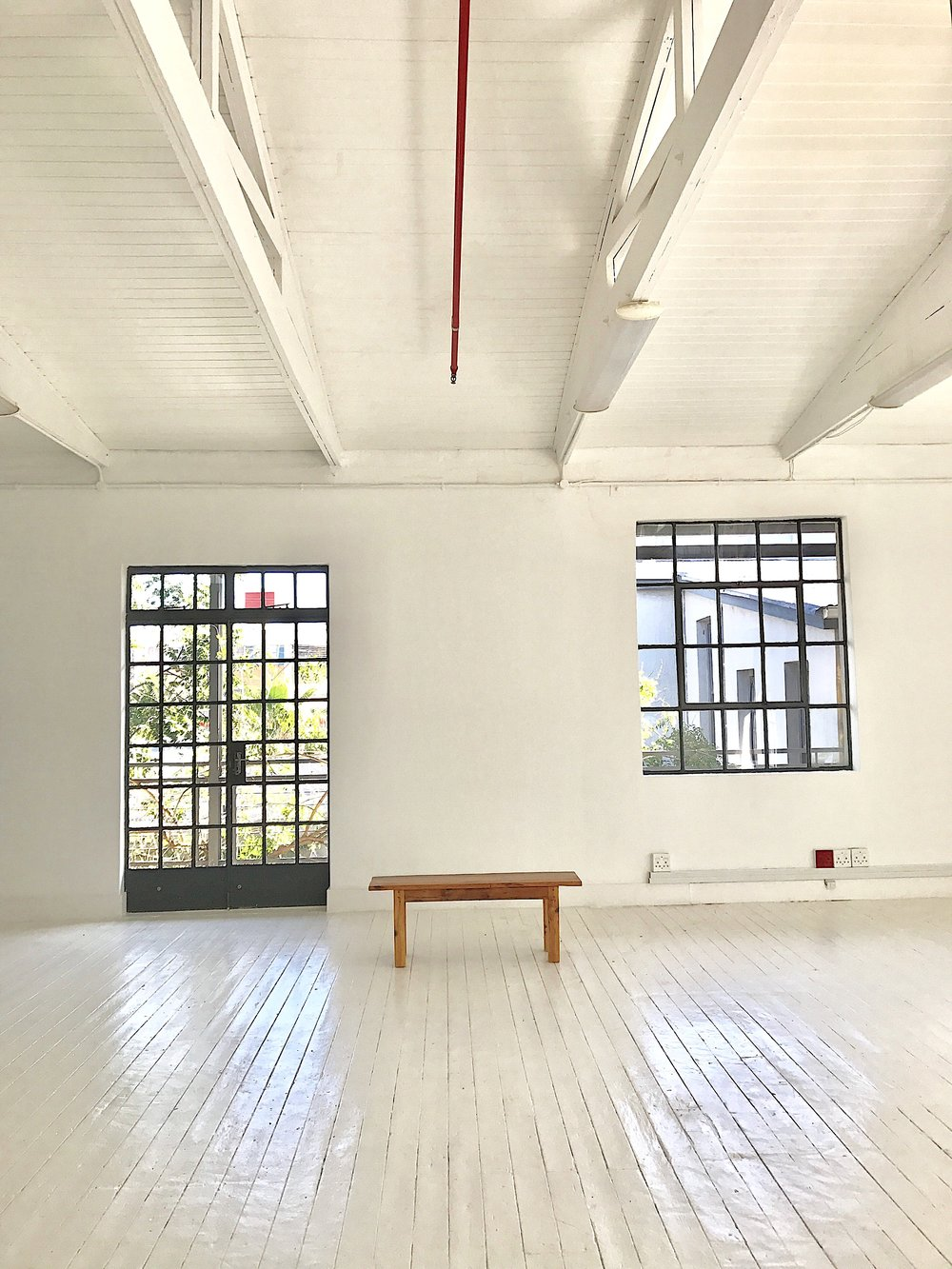Silence Is Accurate Art Gallery empty, August 2017