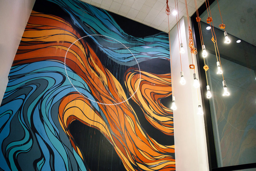 Erik Otto Mural at Workshop Cafe in San Francisco, CA, 2017