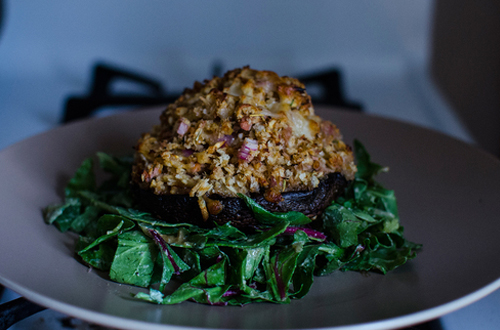 Eat: Cheesy tuna & apple stuffed mushrooms