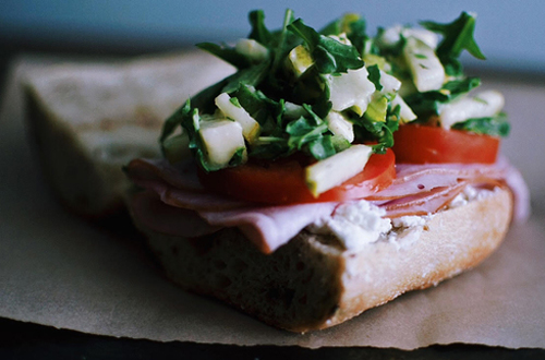Eat: Smoked ham, pear & goat cheese subs