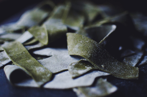 Eat: Green tea pappardelle with Chinese tofu 'mince'