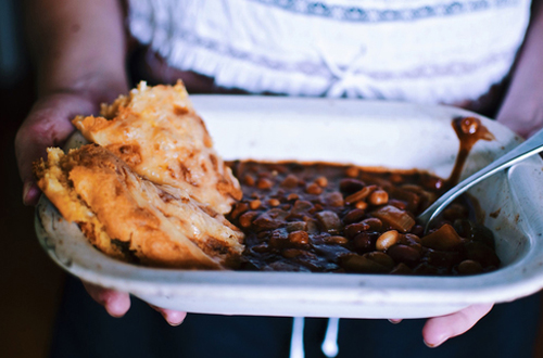 Eat: Chocolate chilli beans with cheesy maple cornbread