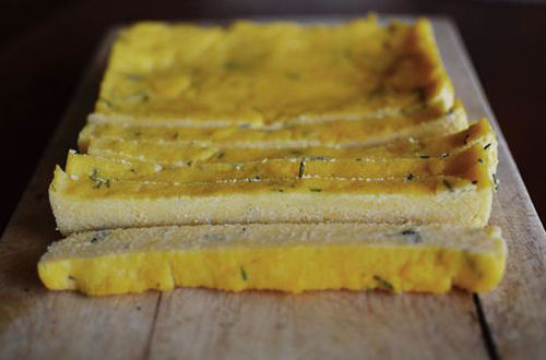 Eat: Parmesan, rosemary & lost thyme polenta chips