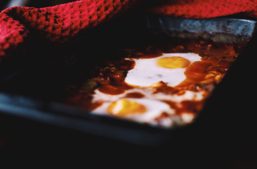 Eat: Farmhouse baked eggs with cheesy toast