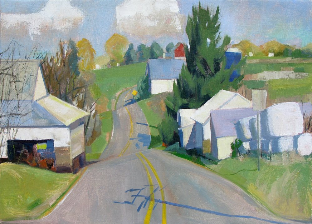 SOLD Hilly Road Private Collection 16x22