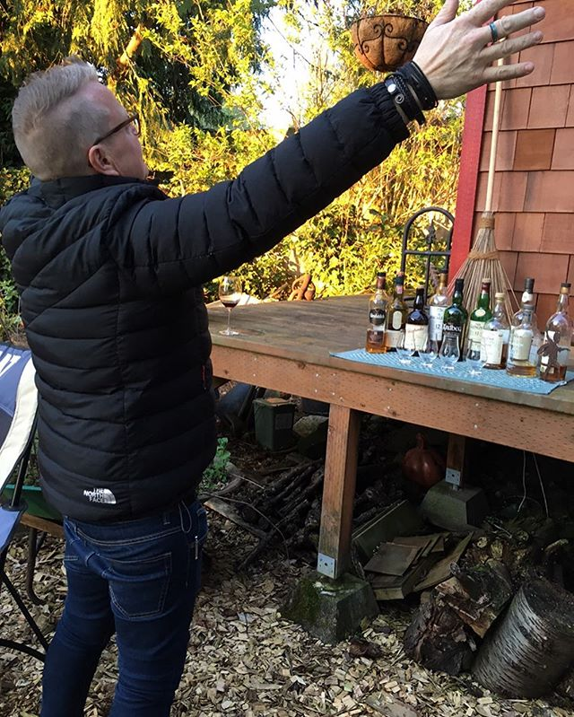 #tbt to last weekend when @timmeaney was surprised by his brother and the lovely #scotch tasting he had waiting for him! He was a bit overjoyed! . #scotchtasting #meaneycafe #islay #whiskey #whisky