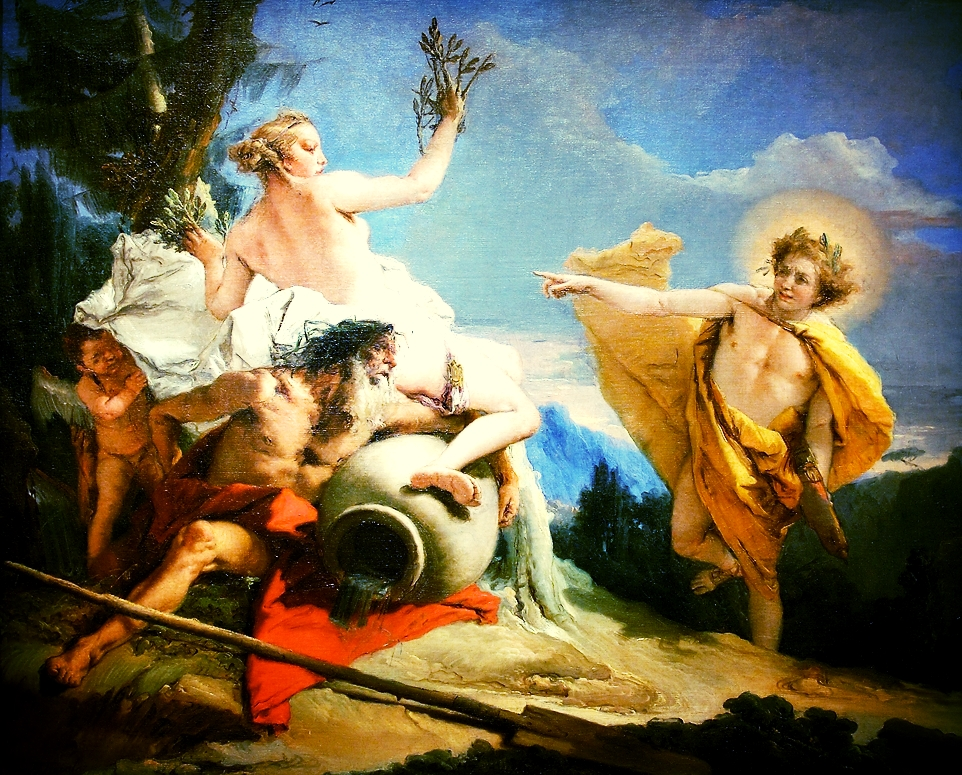 ~ Apollo Pursuing Daphne by Tiepolo