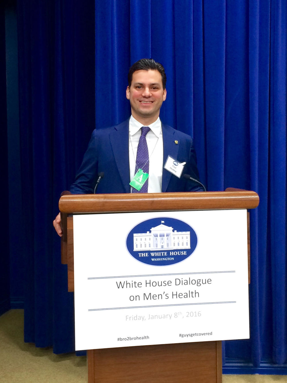 Paul Medina, photograph by White House Correspondent