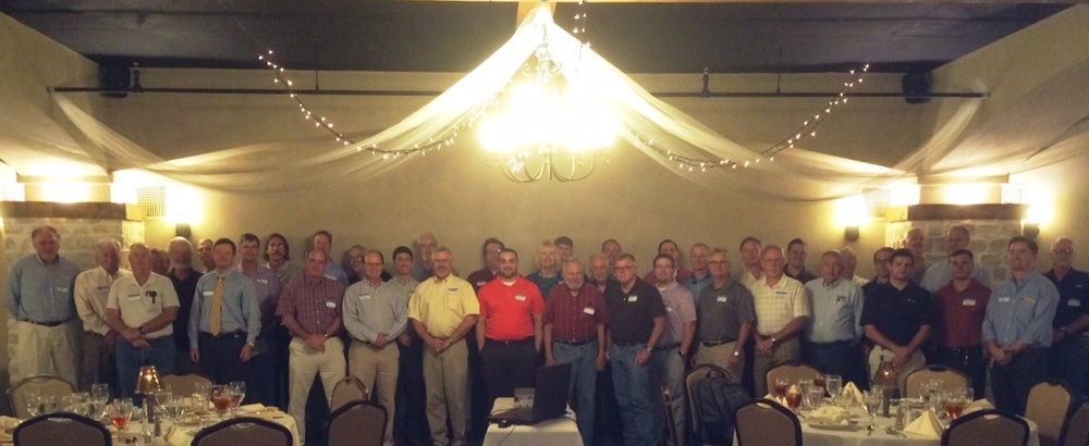 East Texas Geological Society members gathered at a monthly luncheon meeting on September 16, 2015.