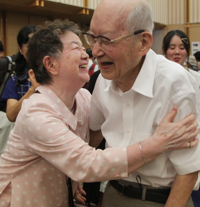 Last national gathering for atomic bomb survivors - MOTHERBOARD, VICE The Nihon Hidankyo - Japan's only organisation of atomic bomb survivors from both attacks - meet together for the last time on eve of the 70th anniversary of the attack on Hiroshima. With the oldest attendee aged 98 and the youngest aged 70, these men and women remain as the only persons to have ever experienced an atomic bomb attack.