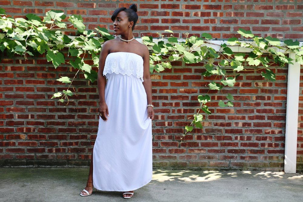white maxi dress_strapless maxi dress