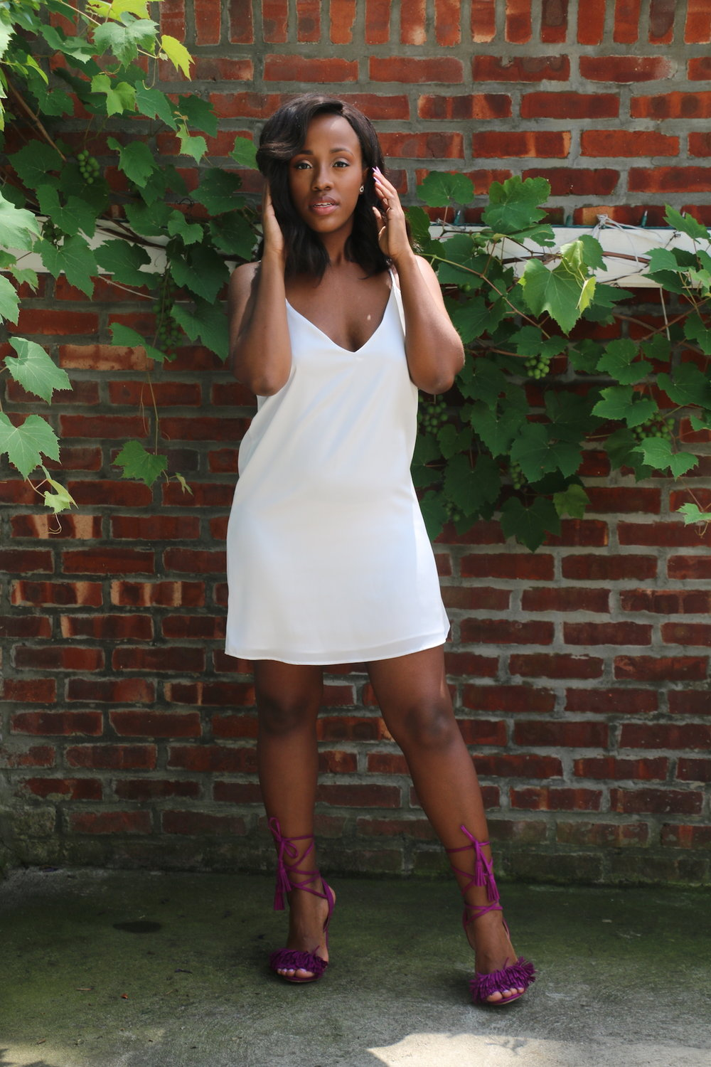 Dress: Castle Black | Shoes: JustFab
