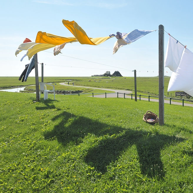 Laundering Linen /  Michael Gäbler [CC BY 3.0 (https://creativecommons.org/licenses/by/3.0)], from Wikimedia Commons