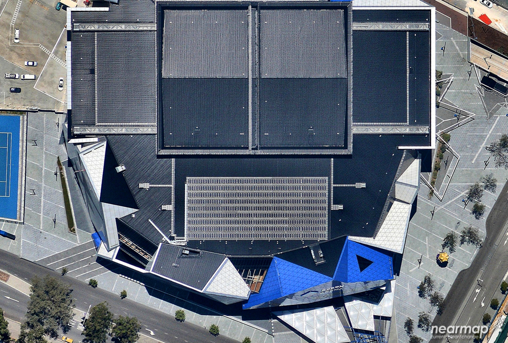 4. Perth Arena designed by architecture firms Ashton Raggatt McDougall and Cameron Chisholm Nicol. Perth, WA australia