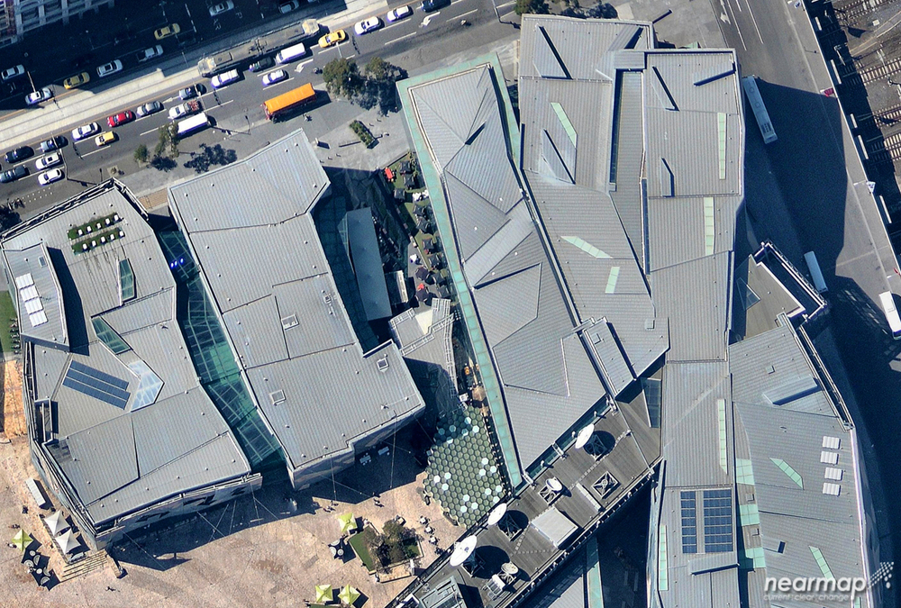 3. Federation Square designed by a combination of architecture firms including, Lab Architect Studio. Melbourne, VIC Australia