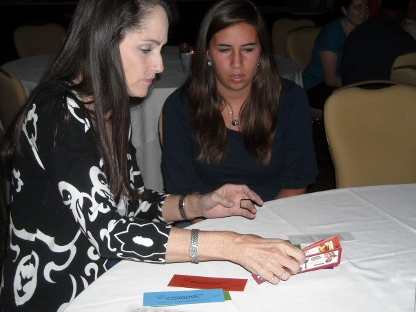 Katherine administering the Enneacards Enneagram Testing Instrument in Fort Lauderdale, Florida in 2011