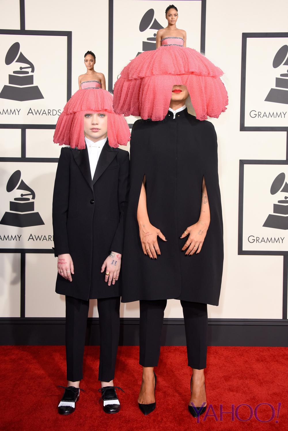 Rihanna's Dress Finds a Happy Home on Sia's Head   - Yahoo Music