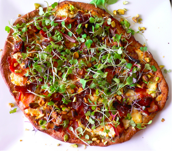 Spicy Microgreens make an excellent pizza topping!