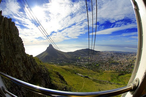 From inside the Table Mountain Areal Cableway... Gorgeous, right?