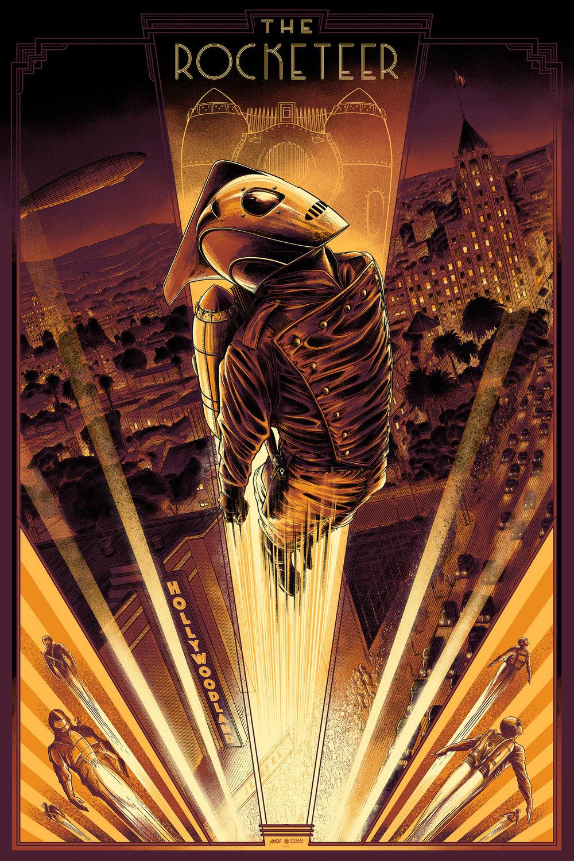 "$50 USD - The Rocketeer - RegularMondo24 x 36"" / Screenprint"
