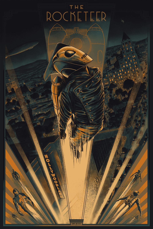 "$60 USD - The Rocketeer - VariantMondo24 x 36"" / Screen-print"