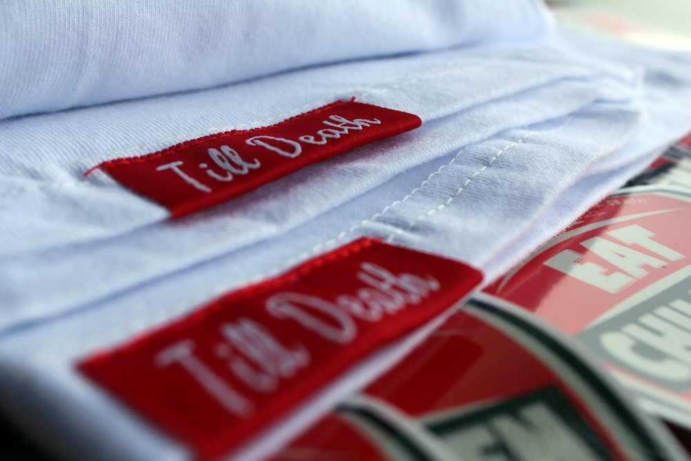 The finer details on the West end shirt