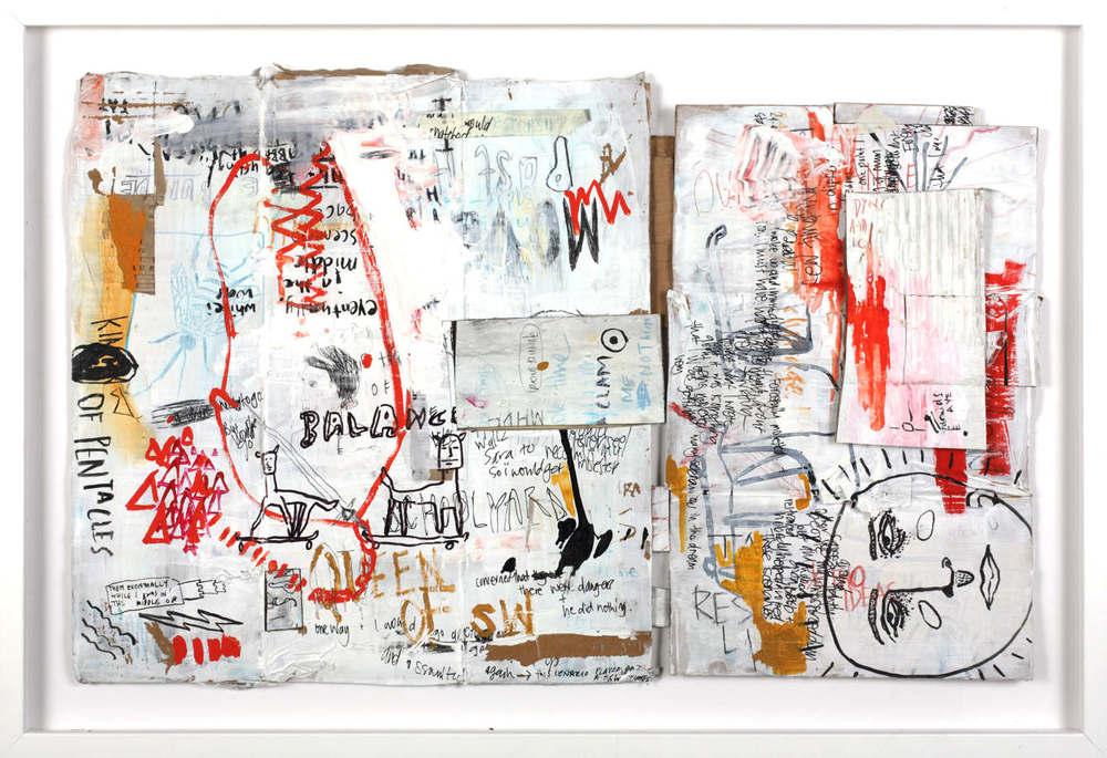 Dreams of Tarot - Mixed media on cardboard, 55x80cm - image: Jesse Mullins