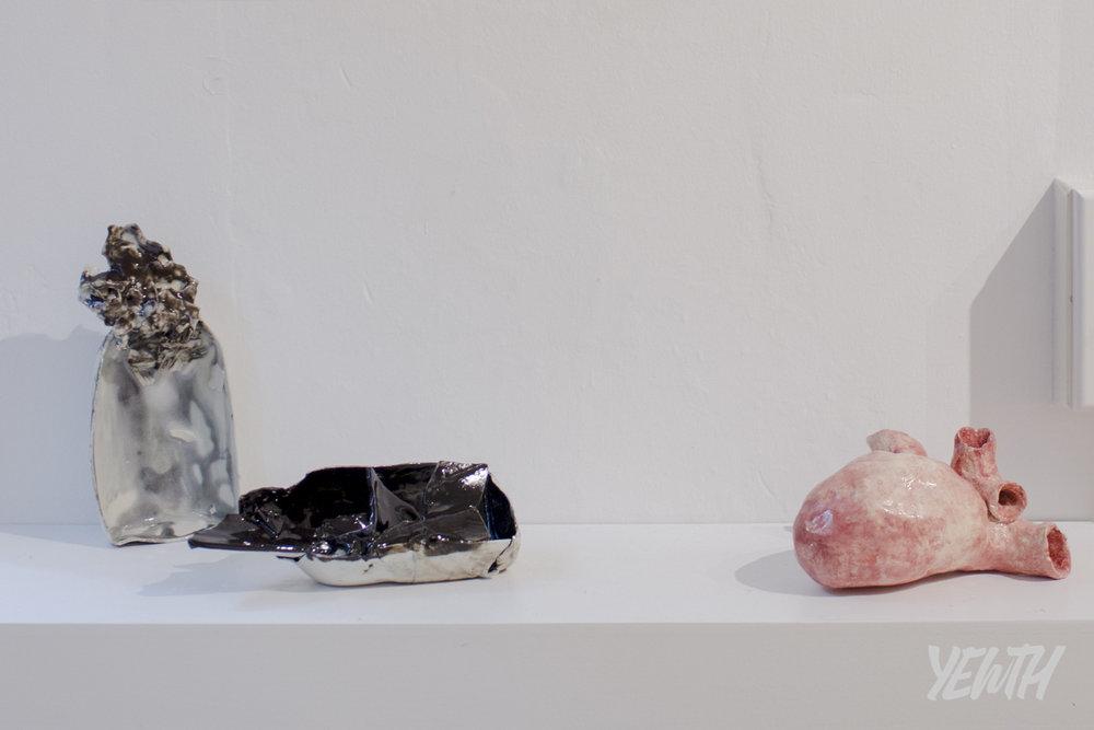 Ceramic sculptures by Emma Sullivan