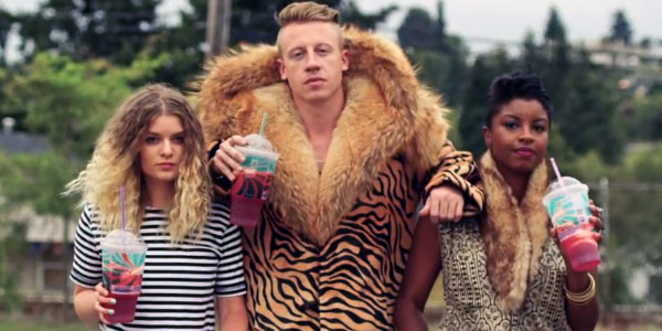 Macklemore in his video for 'Thrift Shop'