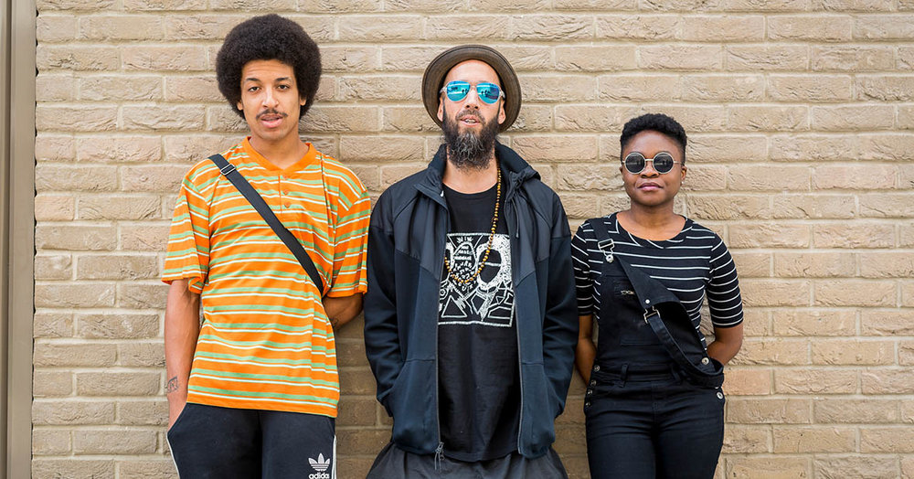 Remi, Sensible J and Sampa The Great. Photo supplied.