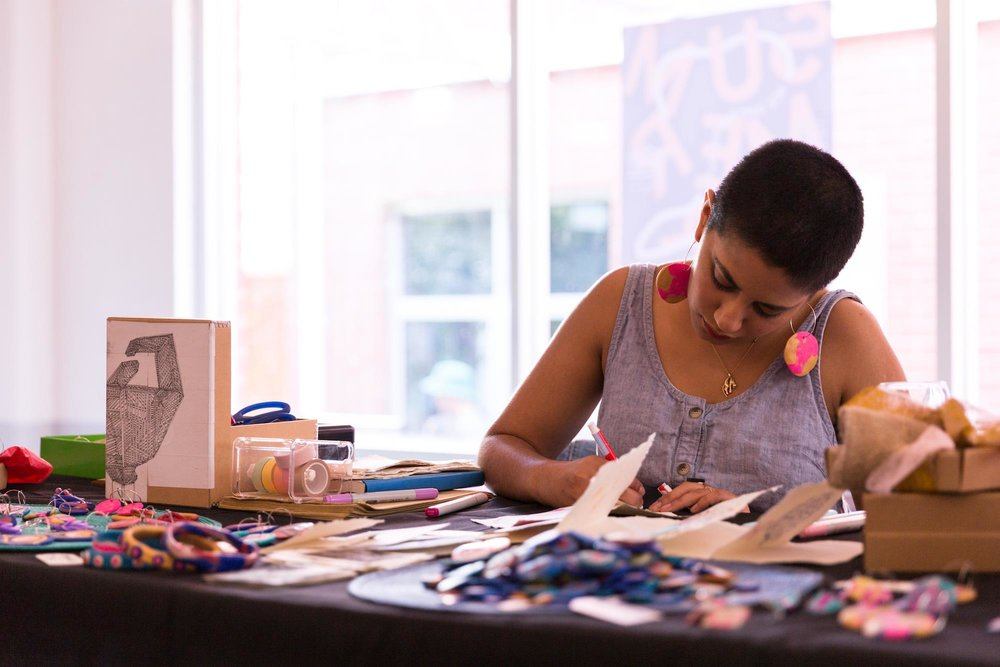 Haneen Martin set up at ACE Open. Photo by Sia Duff.