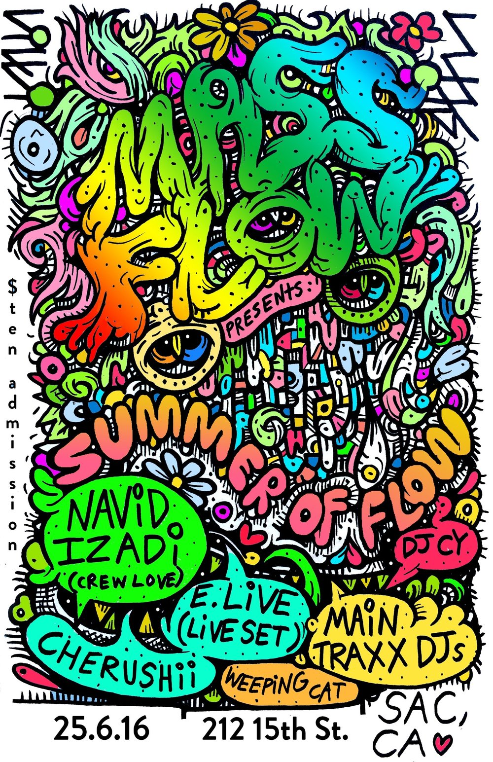 Summer of Flow 06/25/16  -  Flier by Will Durkee