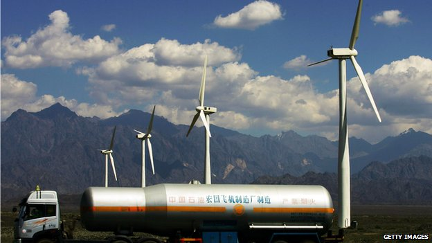 GETTY IMAGES: China is now by far the world's biggest investor in renewable energy, far outstripping the US