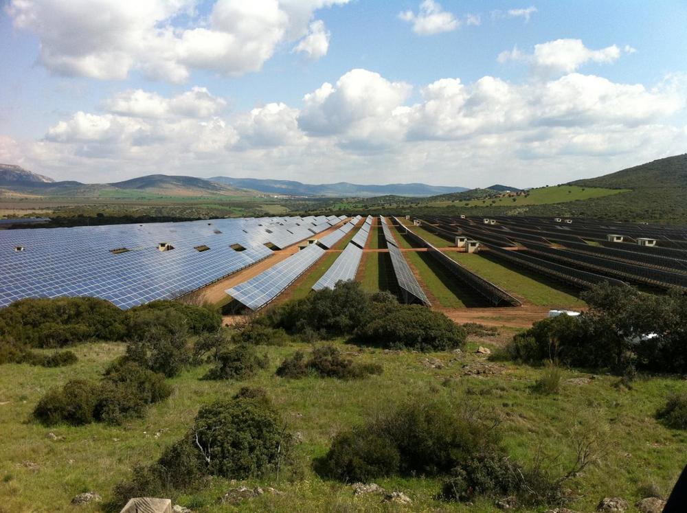 The Puertollano Photovoltaic Park in Puertollano, Spain, a 47.6 MW installation in the Mediterranean biodiversity hotspot.Credit Rebecca R. Hernandez