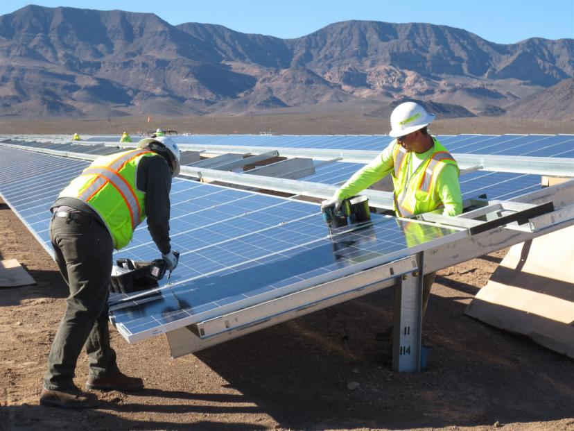 The 250MW project features one million solar PV modules. Photo: courtesy of Cupertino Electric, Inc.