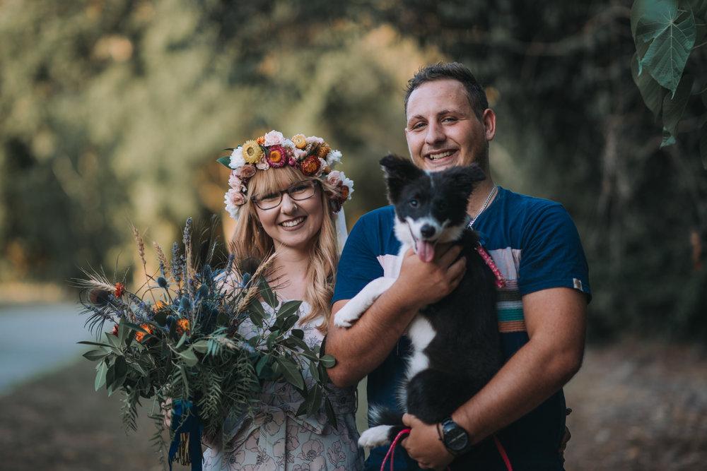 Brisbane Engagement Photographer. Lovelenscapes Photography. Puppy. #lovelenscapesflorals