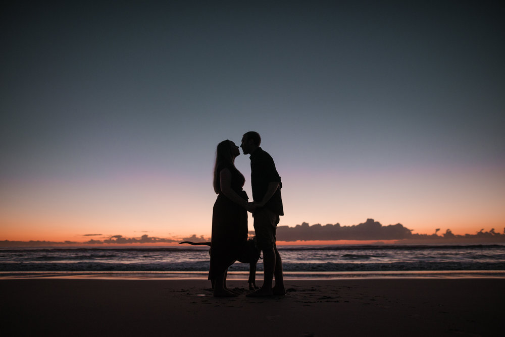 LOVELENSCAPES PHOTOGRAPHY • VISUAL POETRY • CAITLIN & CARL • TALLEBUDGERA BEACH ENGAGEMENT • DOG • SUNRISE ENGAGEMENT PHOTOGRAPHY • 2.jpg