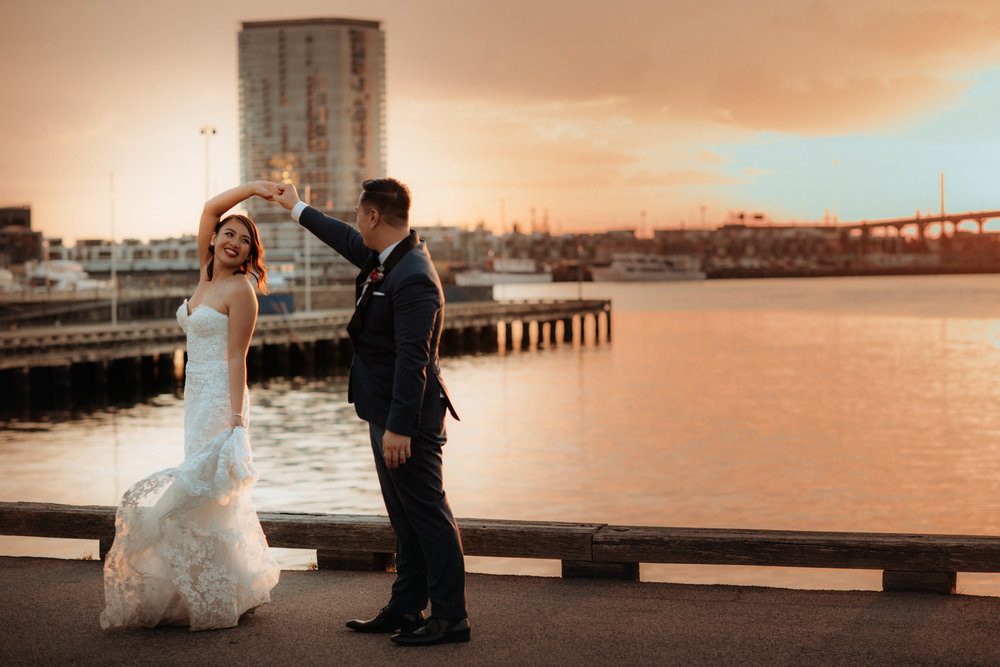 Sneaking out of the reception for 15 minutes of sunset or night time photos is always worth it.