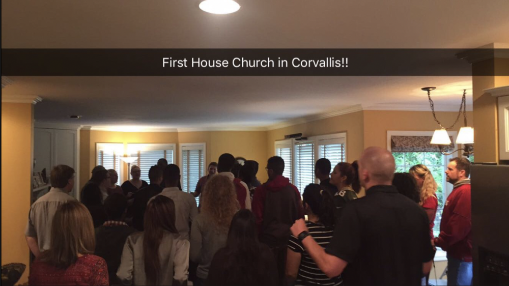 Corvallis house Church Service for the Willamette Valley Christian Church