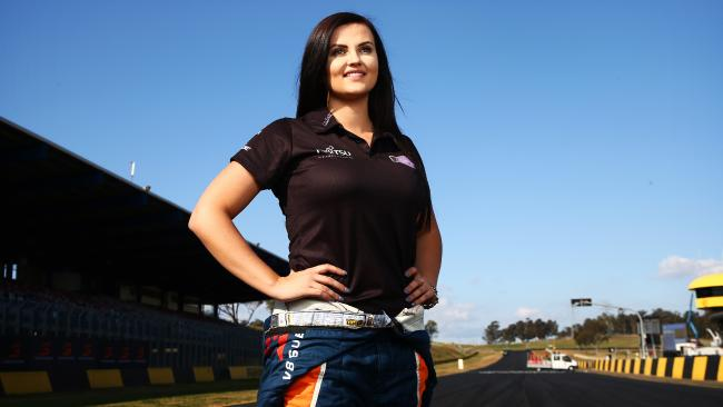 Pictured at Sydney Motorsport Park in Eastern Creek is Dunlop Series V8 Supercar driver Renee Gracie. Picture: Tim Hunter - Story: John Lehmann, Editor at Large, The Daily Telegraph