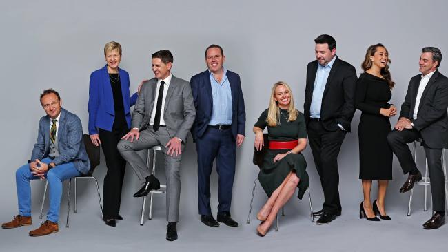 Project Sydney mentors: L to R, Kevin McMillan, Melanie Laing, John Slack-Smith, David Matthews, Ainslie Van Onselen, Damian Eales, Rebekah Giles and Joseph Carozzi.