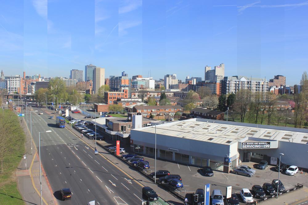 Top of a car park