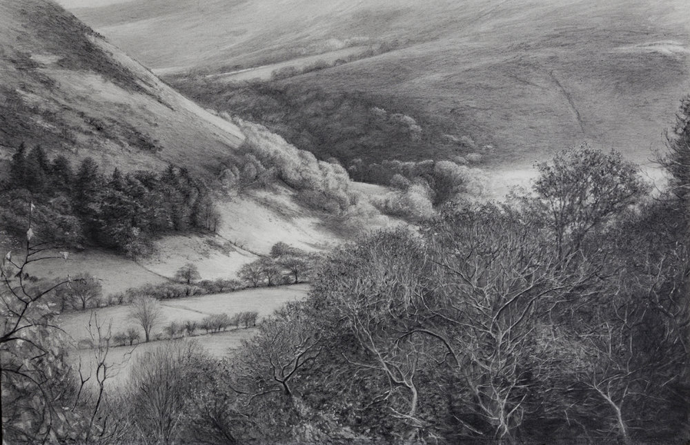 Summer Valley, 2018  (pencil on paper, 34 x 52.2 cm)
