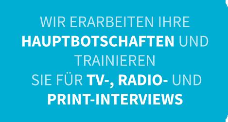 Interviewtraining, Kernbotschaften