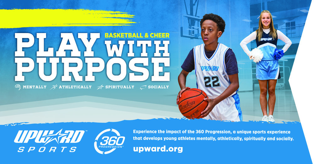 Upward Basketball & Cheerleading - Registration opens Sept. 4, 2018. Click this link to register online. More info? Go to Connect/Sports.