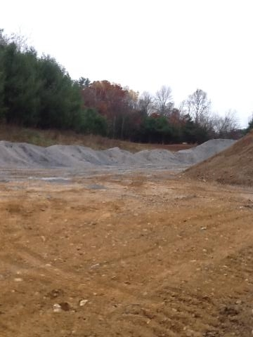 Before... Paper mill residuals are mixed with biosolids and sand in an engineered topsoil.