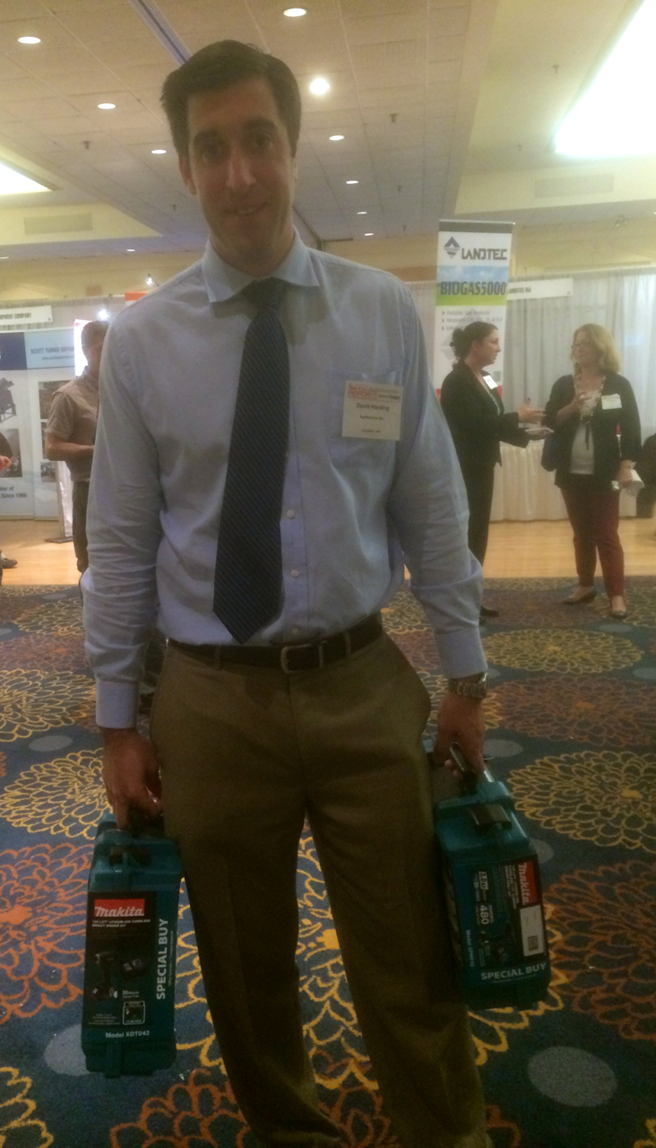 David Harding (Agresource), winner of power tools in NEBRA Raffle 2015