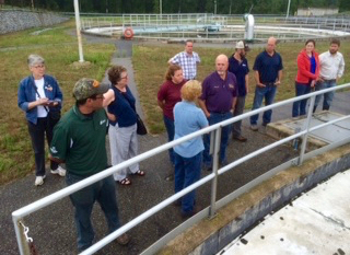 July 28th tour of the Concord Hall Street Wastewater Treatment Facility.