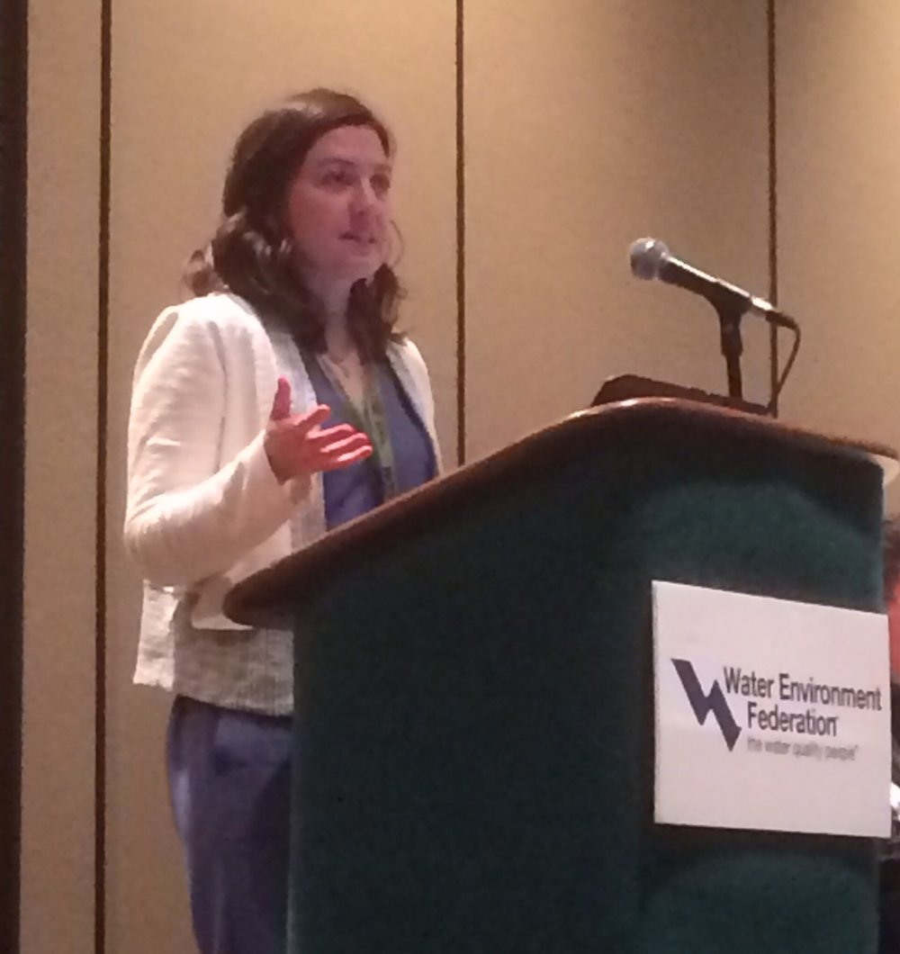 Kate Kurtz, King County (Seattle), WA, presented a summary of a recent risk assessment and communications effort regarding trace organic chemicals in biosolids.